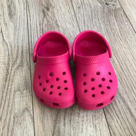 CROCS Shoes | Pink Toddler Crocs Size